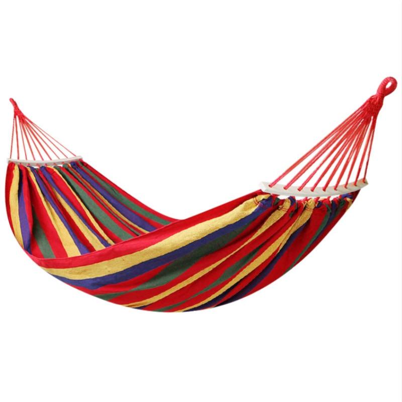 Outdoor Hammock Adult Hamaca Single Anti-rollover Canvas Hammocks Student Hanging Chair Swings Colgante Hangmat Hamak Hamac