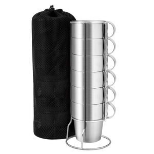 Image 2 - Outdoor Non magnetic 6 piece Cup Stainless Steel Double Cup Picnic Insulation Anti scald Coffee Cup Beer Mug Outdoor Camping