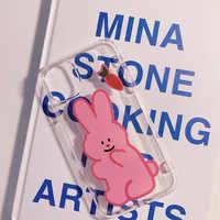 2020 Pink Carrot Rabbit Animal Cartoon Case For iPhone 11 11PROMAX 11PRO 6 6S 7 8 6S Plus 7Plus 8Plus X XS MAX XR Transparent