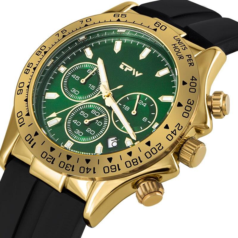 Men Watches Top Brand Stopwatch Silicone Rubber Strap Chronograph Quartz Watch Luxury Watch Relogio Masculino Gift For Men
