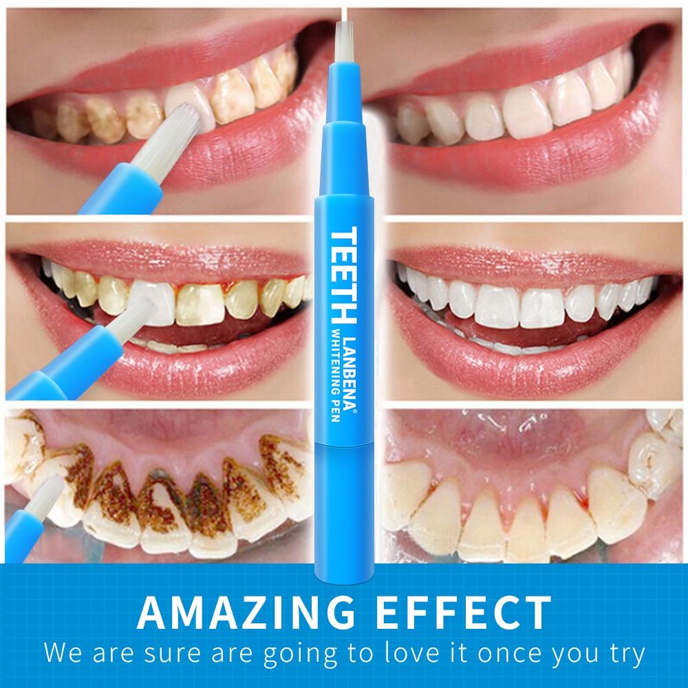NEW LANBENA Teeth Whitening Pen Cleansing Serum Remove Plaque Stains Dental Instrument Oral Hygiene Gel Whitenning Brushes Teeth