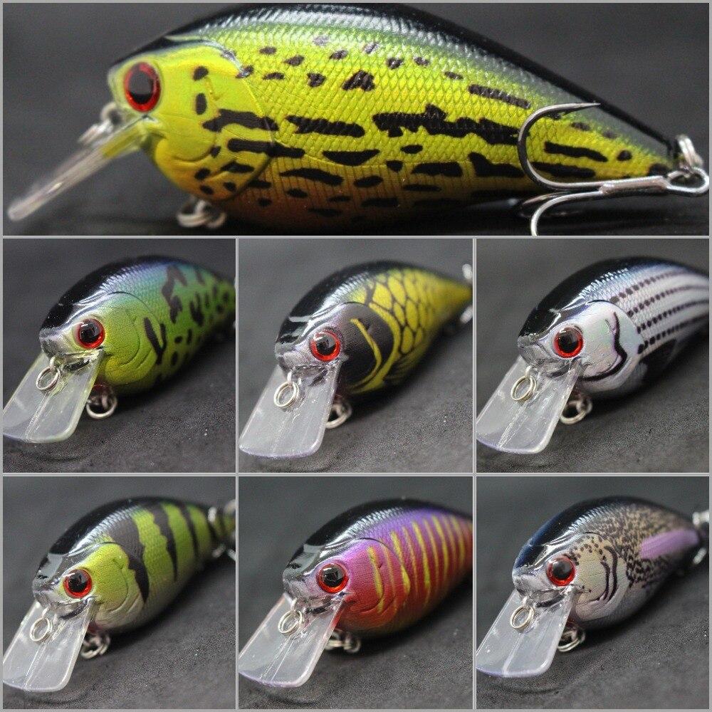 Рыболовная приманка wLure, квадратная рыболовная приманка C429, 8,3 см, вес 14,3 г, громкий звук, 1 м глубина, #4 тройные Крючки, разные цвета