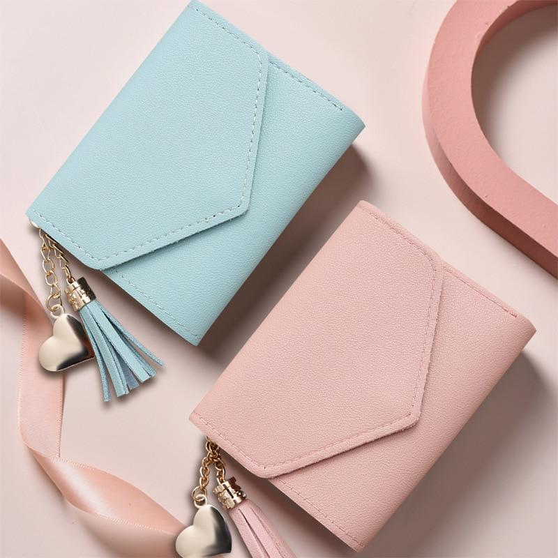 Women Mini Wallets Pocket Purse Card Holder Wallet Lady Female Fashion Short Coin Money Carteras Para Mujer Billetera Feminina
