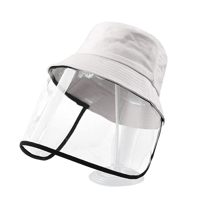 Fisherman Hat With Protective Clear Mask Dust-proof Sun Cap Plastic Anti-fog Saliva Hats Face Shields Hats 5