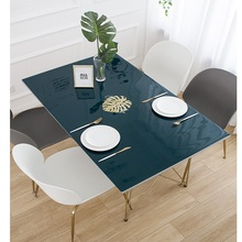 Nordic dark marble pvc plastic tablecloth waterproof Heat resistant oil-proof coffee table mat party decoration customize
