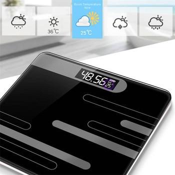 Mrosaa báscula de suelo para baño báscula de grasa para cuerpo inteligente báscula de carga USB para pantalla LCD báscula electrónica Digital para el cuerpo|Básculas de baño| |  -