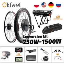 Ebike-Kit Motor-Wheel-Hub-Motor Battery Bicycle-Conversion-Kit Electric 1500W 36v 250w