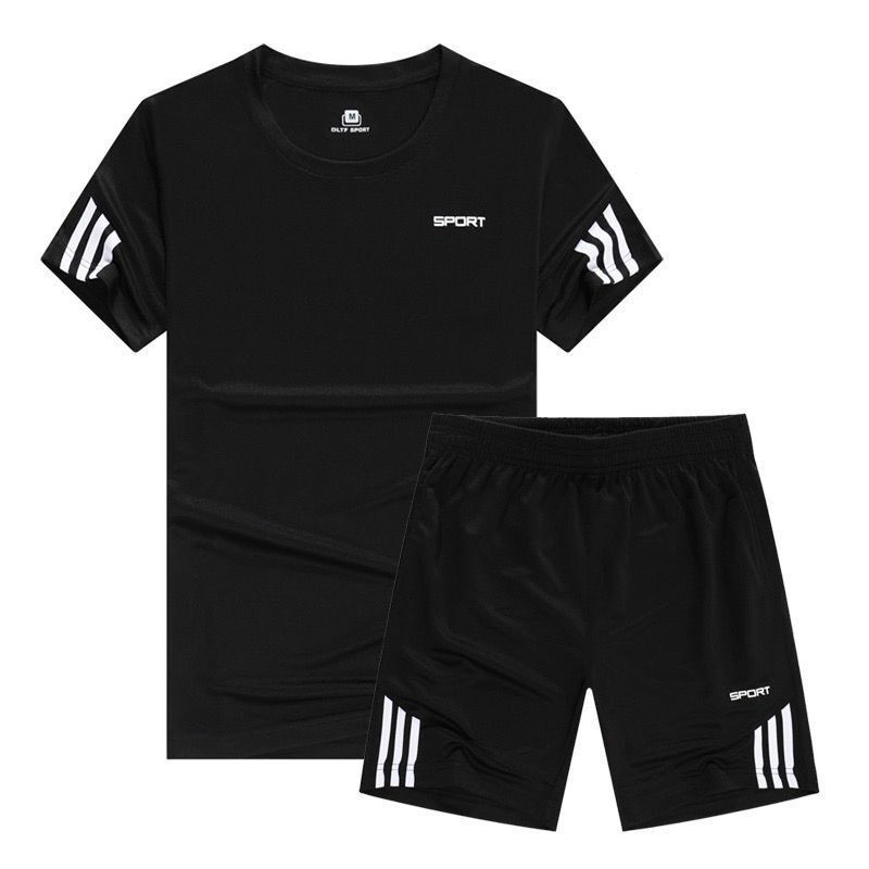 Summer New Men's Set Short Casual Suits Sportswear Mens Clothing Man Two Pieces Fashion Fitness Sets Male Sweatshirt Big Size