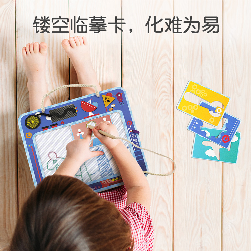 Mieredu New Products Portable Magnetic Graffiti Sketchpad Art Illustration Profession Early Childhood Educational Toy