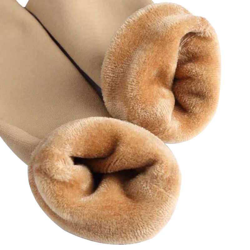 1 Pasang Musim Gugur Musim Dingin Hangat Menebal Kaus Termal Wol Kasmir Salju Kaus Kaki Unisex Hangat Solid Nylon Kaus Kaki Mulus Kaus Kaki