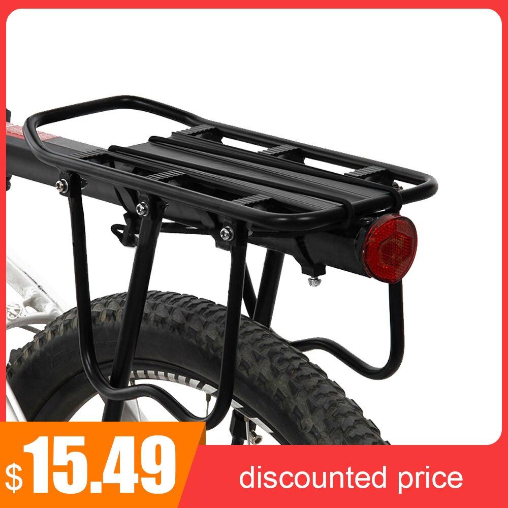 Mtb bicicleta prateleira traseira ciclismo rack atualizado rack de liga alumínio pode suportar 50kg prateleira bagagem transportadora tronco instalar ferramentas