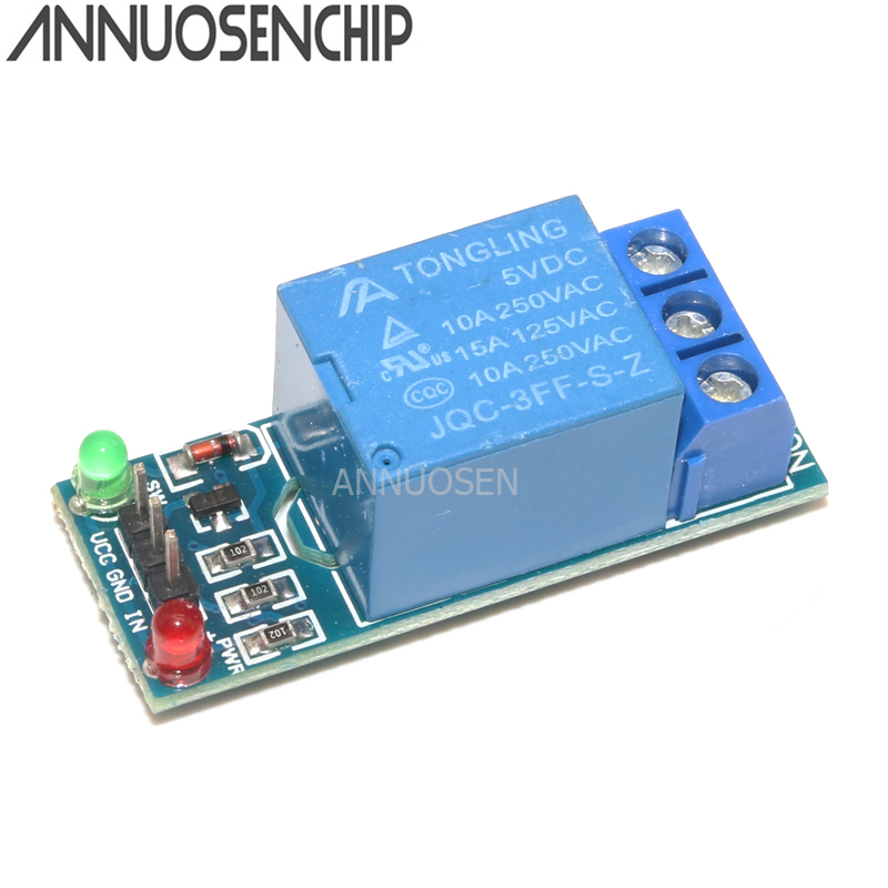 Free Shipping 5V low level trigger One 1 Channel Relay Module interface Board Shield For Arduino PIC AVR DSP ARM MCU DC AC 220V