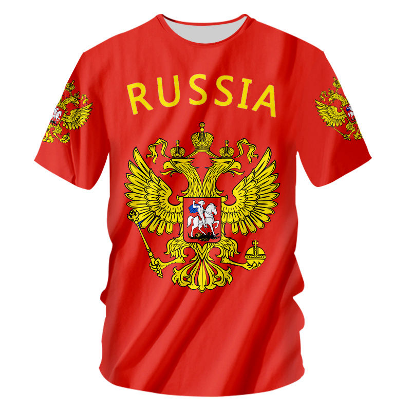 Novelty Russia T Shirt Men Women Flag Russian T-shirt Unisex Summer Casual  Plus Size S-5XL Custom 3d Tee Shirt DIY Team Clothes