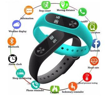 FXM M2 Smart Watch Fashion Sport Watch Fitness Tracker Running Bracelet Step Counting Distance Calorie Band Men Women Children