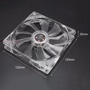 5 Color Light PC Computer Fan Quad 4 LED Light 120mm PC Computer Case Cooling Fan Mod Quiet Molex Connector CPU Cooler Fan(China)