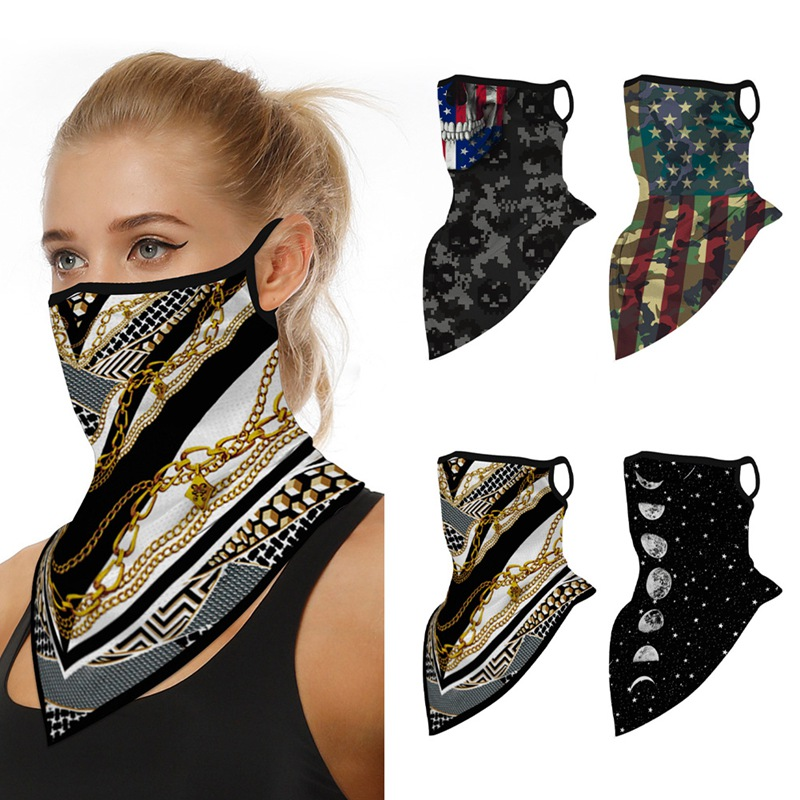 Bike Bicycle Cycling Face Mask Neck Gaiters Anti-dust UV Protection Men Women Motorcycle Face Cover Mask Bandana With Ear Loops(China)