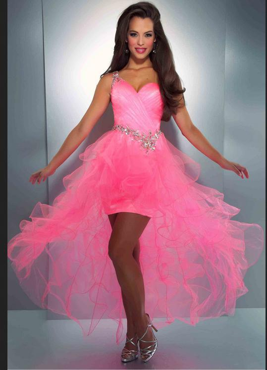 Free Shipping New Style Vestido De Festa Robe De Soiree 2014 Cheap Sexy Backless Short One Shoulder Pink Crystal Prom Dresses