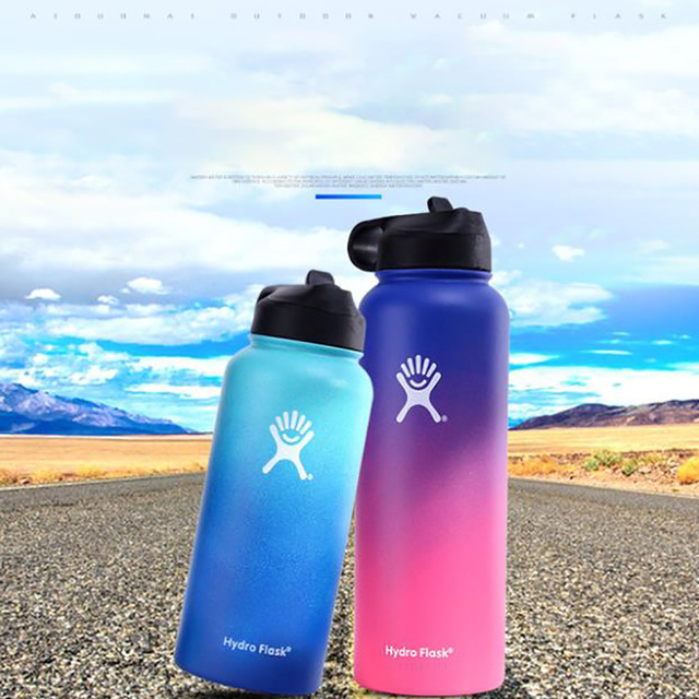 Hydro Flask 18oz/32oz/40oz Vacuum Flask Insulated Thermos Stainless Steel Straw Water Bottle Wide Mouth Sport Travel Bottles 5