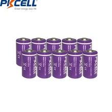 10 יח\חבילה PKCELL 1/2 AA סוללה 3.6V ER14250 14250 1200mAh LiSOCl2 סוללת ליתיום סוללות עבור GPS