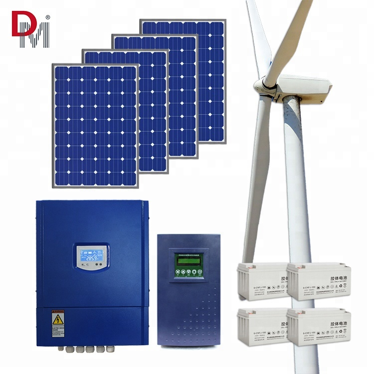 Top Quality 5kw Wind And Solar Power System 5000w Wind Power System Wind Generator Solar Hybrid System Consumers First