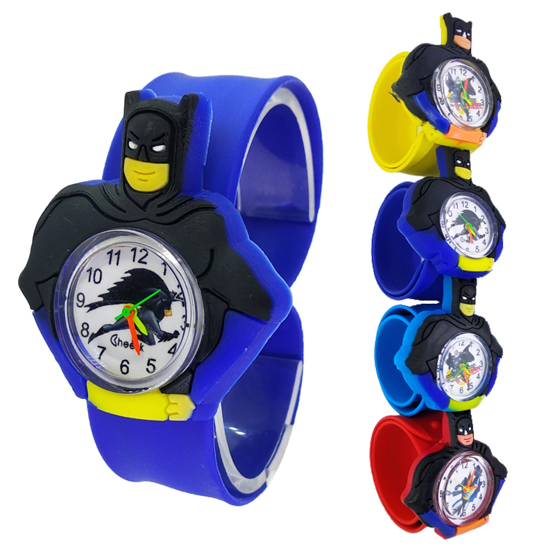 Black Batman Watch Children Boys Watches For Kids Birthday Party Gift Child Student Sports Watch Iron-Man Baby Bracelet Clock D1