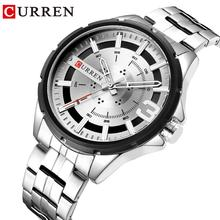 CURREN Business Watches Mens Dial Quartz Watch Waterproof Wristwatch Stainless Steel Men Clock Male Reloj