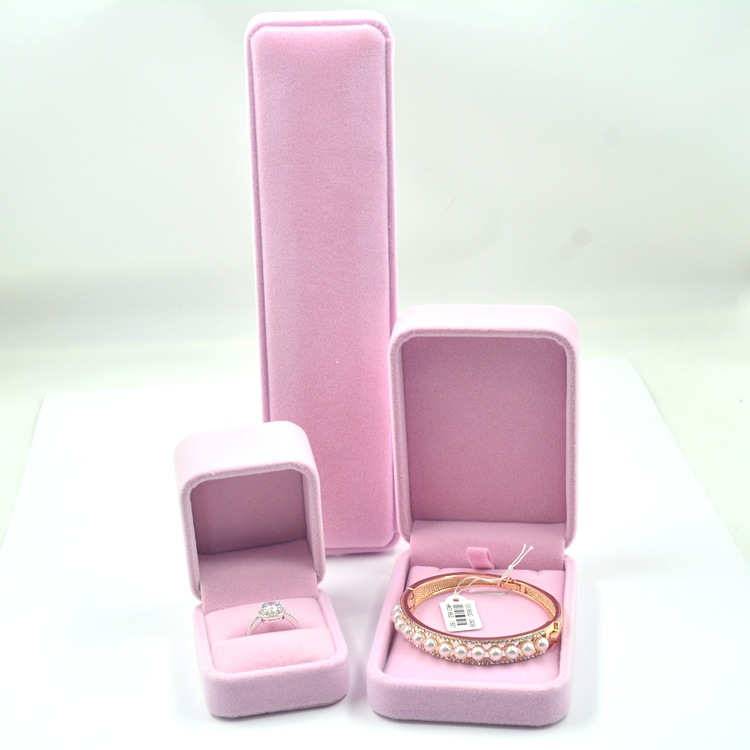 Accessories Wholesale Box Top Grade Flannel Box Business Send Gift Box Jewellery Box Manufacturers Direct Selling
