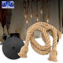 Industrial-Lamp Hemp-Rope Vintage-Decor 220V 110V E27 AC AC85-265V