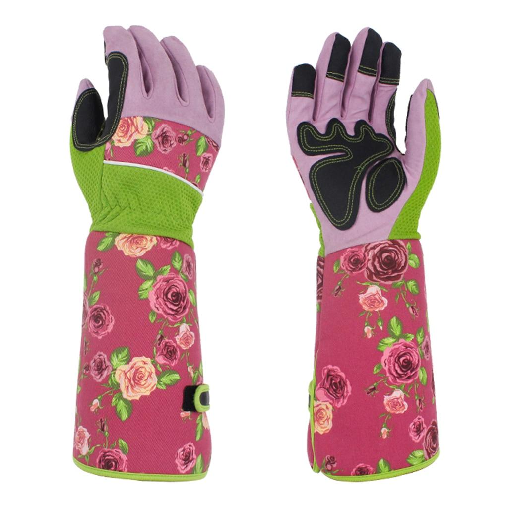 Перчатки для обрезки сада, устойчивые к проколу рабочие перчатки для двора, водонепроницаемые перчатки для обрезки рук, садовые перчатки, п...