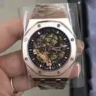 Luxus Marke Neue Automatische Mechanische rose gold Männer Uhr Sapphire Glas Transparent Skelett Gold Tourbillon Uhren AAA + - 1