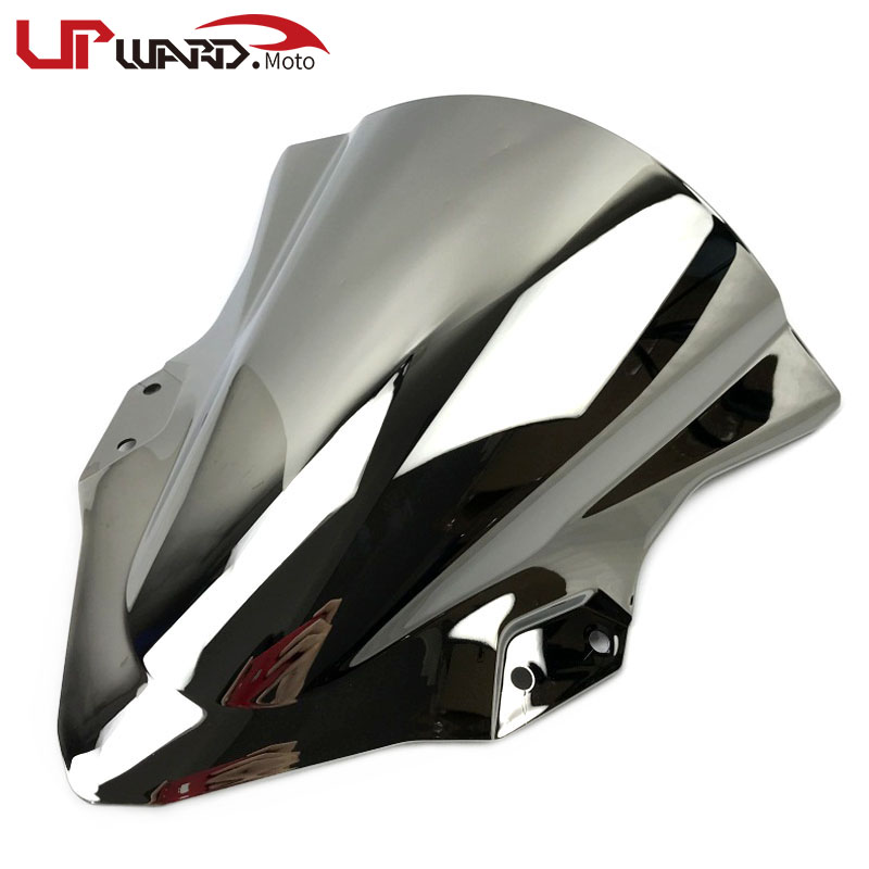 For KAWASAKI <font><b>NINJA</b></font> 250 <font><b>400</b></font> NINJA400 NINJA250 2017 2018 2019 Motorcycl Double Bubble Windshield <font><b>WindScreen</b></font> Windproof Screen image