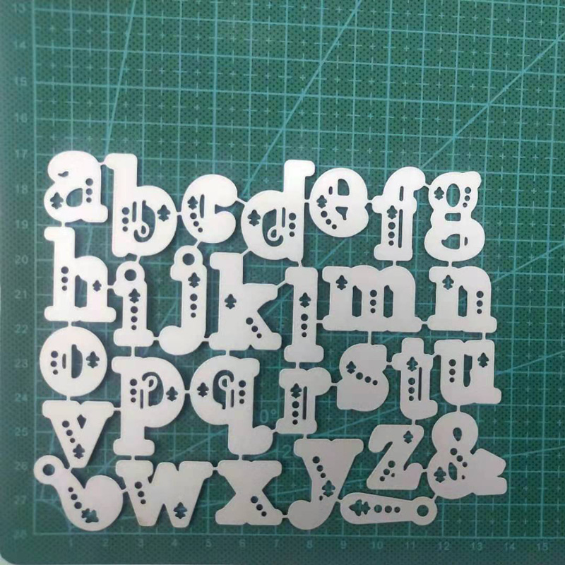 Lower Case Letters Set Metal Cutting Dies Stencil Alphabet Die Scrapbooking Embossing Christmas Stamps And Dies 2019 New Craft