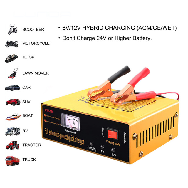 6V 12V Full Automatic Protect Electric Baby Toy Car Motorcycle Battery Charger for Lead Acid Storage batteries Cell 6 V 12 Volt