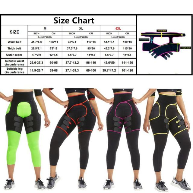 Slim Thigh Trimmer Leg Shapers Slender Slim Belts Sweat Shapewear Toned Muscles Band Thigh Slimmer Wraps 5