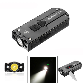 Astrolux 350LM USB led flashlight Stainless Steel Mini Keychain torch 3 LED Lights UV Flashlight Rechargeable IP65 waterproof trustfire mini03 flashlight cree r5 led flashlight stainless steel key chain mini torch page 5 page 3