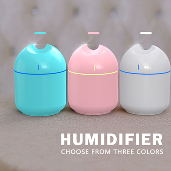 Ultrasonic Mini Air Humidifier Aroma Essential Oil Diffuser for Home Car USB Fogger Anion Mist Maker with LED Night Lamp 200ML image