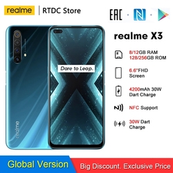 realme X3 RMX2086 NFC 6.6'' 8/12GB 128/256GB 64MP Snapdragon 855+ 64MP 60X SuperZoom 4200mAh 30W Dart Charge 4G Mobile phone
