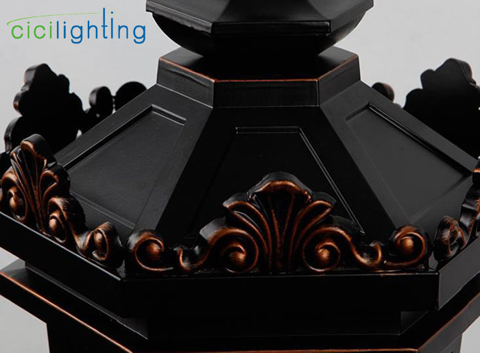 Luz de teto ao ar livre tradicional