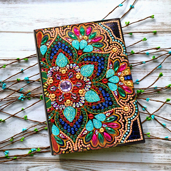 Shirliben 5d Diy Diamond Painting Notebook Diary Book Butterfly Peacock Unicorn Mandala Diamond Mosaic Round Special Diamond 1