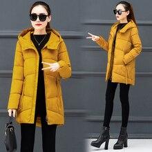 Winter Hooded Warm Women Coat Slim Cotton padded Jacket Female Casual Parka Wind