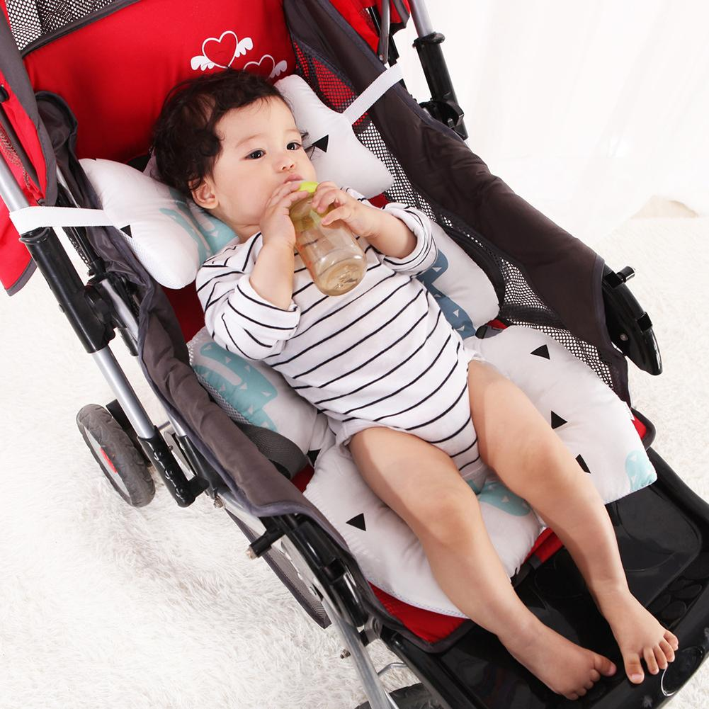 2 in 1 Baby Stroller Seat Pad Liner Pram Cushion and Head Support for Car Seat Fox