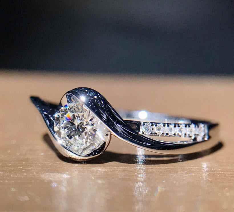 Funken 925 Sterling Silber Carat Herzen und Pfeile Runde AAA Zirkon Hochzeit Verlobung Ringe für Frauen Silber Schmuck