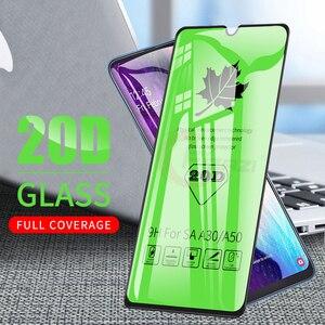 Image 1 - 20D pełne kleju hartowanego szkła dla Samsung Galaxy A50 A51 A10 A20 A30 A40 A70 A71 A30S A50S M10 M20 M30 M31 folia ochronna na ekran