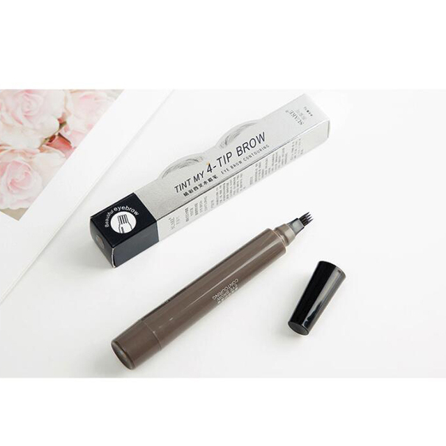 4 Head Henna Eyebrow Pencil Tint Microblading Waterproof Tattoo Pen Gray Red Brown Eye Brow Marker Long-lasting Easy to Wear 5