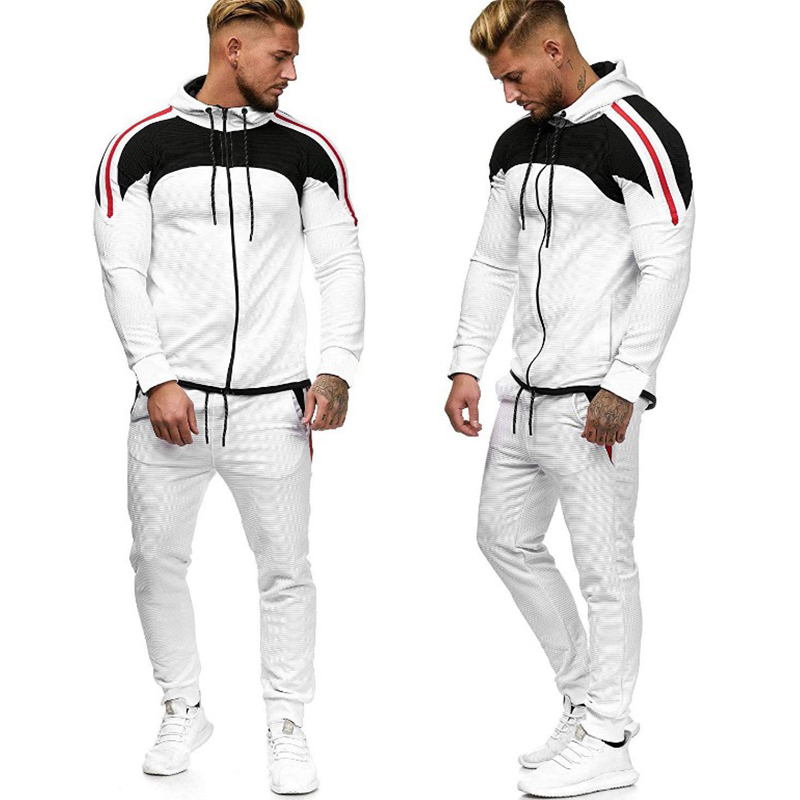 Brand Tracksuit Men 2019 Fashion Long Sleeve Sweatshirt Joggers Pants Hip Hop Sportswear 2 Pcs Ensemble Homme Man Clothing