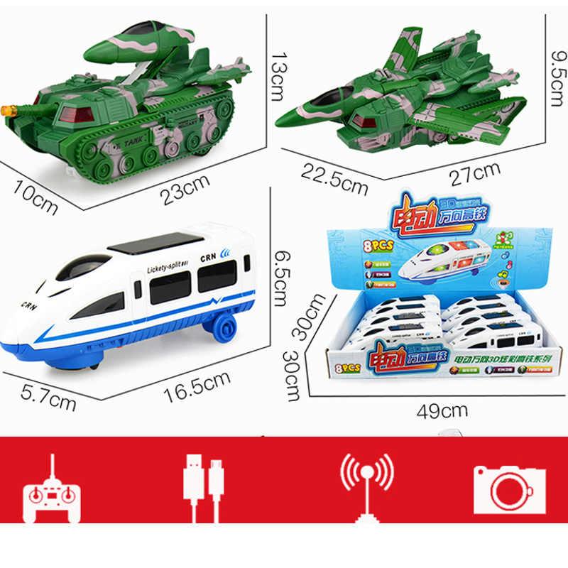 새로운 rc 기차 장난감 레일 원격 제어 기차 모델 철도 세트 기차 아이 장난감 어린이 전기 기차 세트 시뮬레이션 모델 장난감