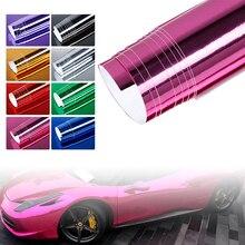 Body Mirror Vinyl Wrap Film High Gloss Car Plating Adhesive Sticker Decal PVC Car Styling Auto Body Film стоимость