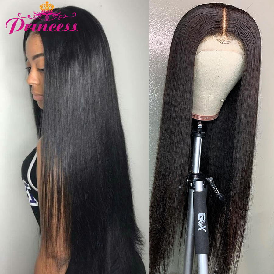 Human-Hair-Wigs Lace-Front Beautiful Princess Straight Brazilian Remy Pre-Plucked 13x4/13x6