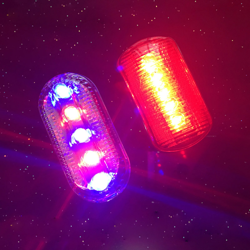 LED Flashing Shoulder Lights Outdoor Night Running Riding Road Safety Warning Traffic Light Shoulder Clip Flasher Lamp