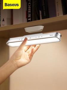 Магнитная настольная лампа Baseus, беспроводной светодиодный светильник для дома, кабинета, чтения с плавным затемнением, ночник с питанием от...